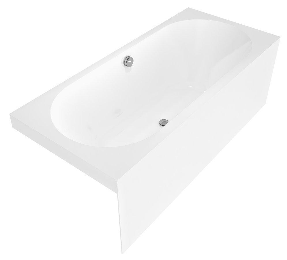 VIVA BN MONOLITH obdélníková vana 180x75x60cm, bílá