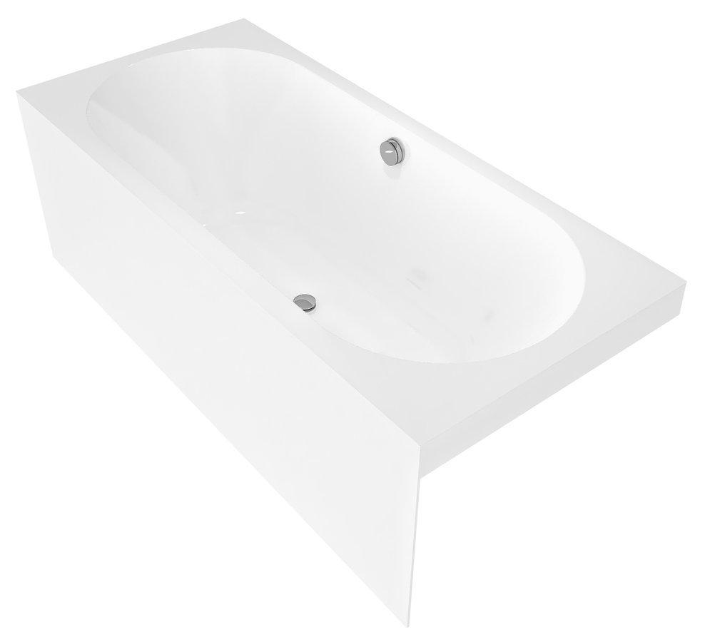ASTRA BLN MONOLITH obdélníková vana 160x70x60cm, bílá