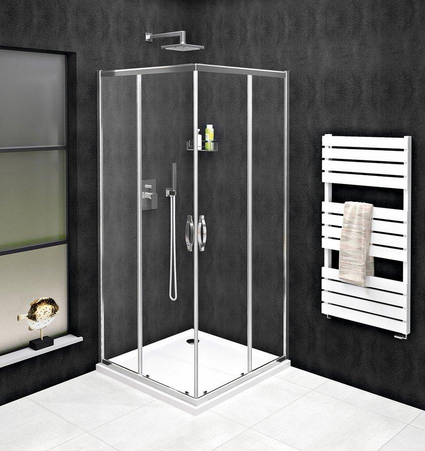 SIGMA SIMPLY čtvercový sprchový kout 800x800 mm, rohový vstup, čiré sklo