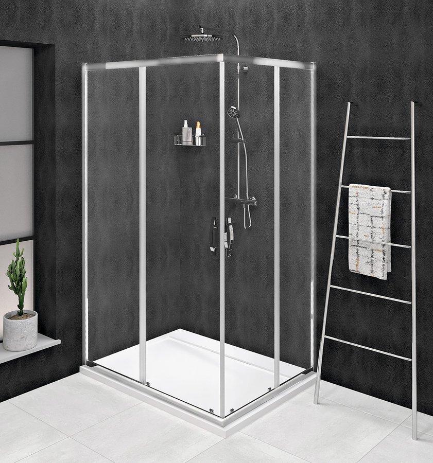 SIGMA SIMPLY obdélníkový sprchový kout 900x800 mm, L/P varianta, rohový vstup, čiré sklo