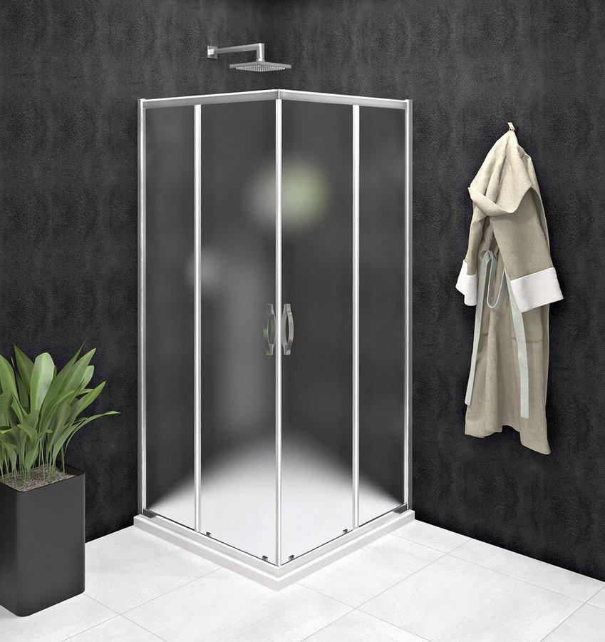 SIGMA SIMPLY čtvercový sprchový kout 800x800 mm, rohový vstup, Brick sklo