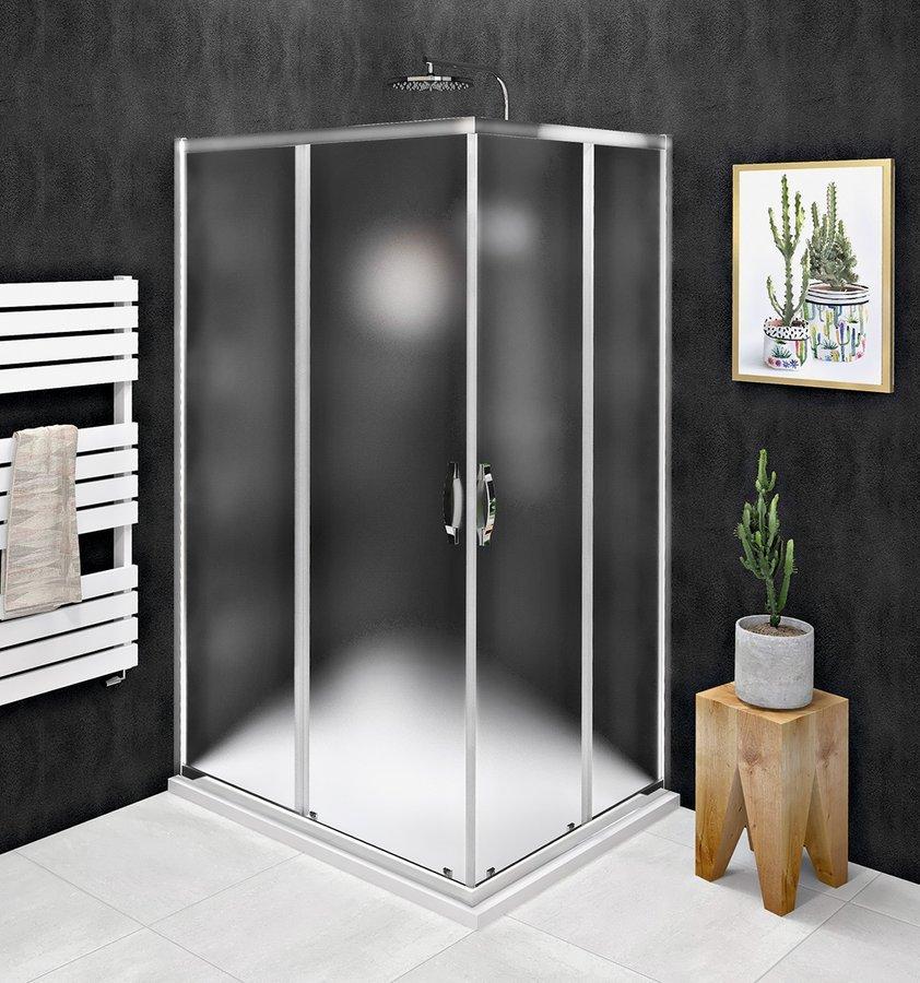 SIGMA SIMPLY obdélníkový sprchový kout 1000x900 mm, L/P varianta, rohový vstup , Brick sklo