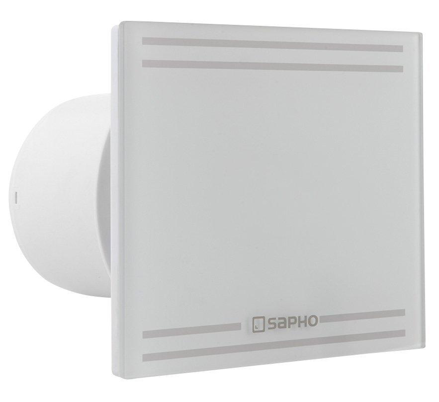 GLASS koupelnový ventilátor axiální s časovačem, 8W, potrubí 100mm, bílá