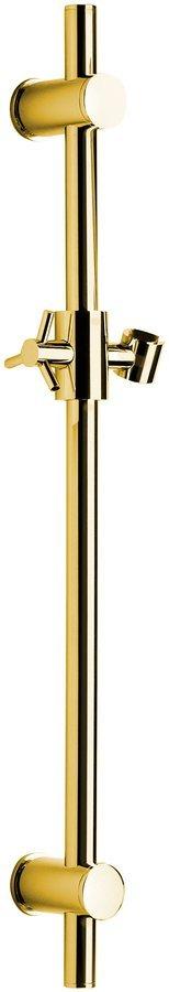Posuvný držák sprchy kulatý, 700 mm, zlato