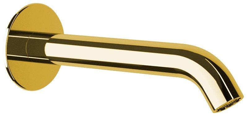 Nástěnná výtoková hubice, kulatá, 165mm, zlato
