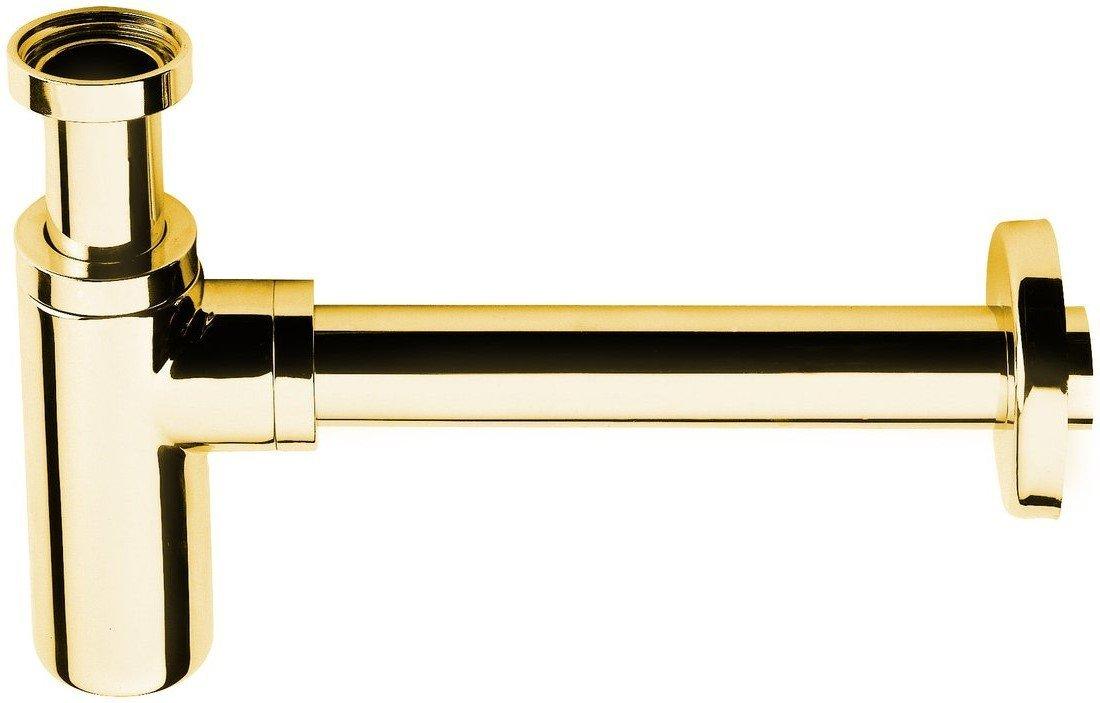 Umyvadlový sifon 1´1/4, odpad 32 mm, kulatý, zlato