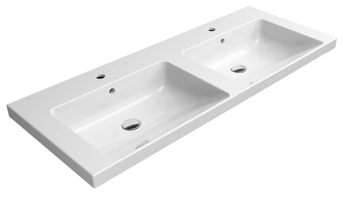 NORM dvojumyvadlo 125x50 cm, bílá ExtraGlaze