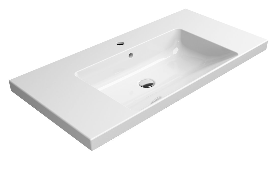 NORM keramické umyvadlo 100x18x50 cm, bílá ExtraGlaze