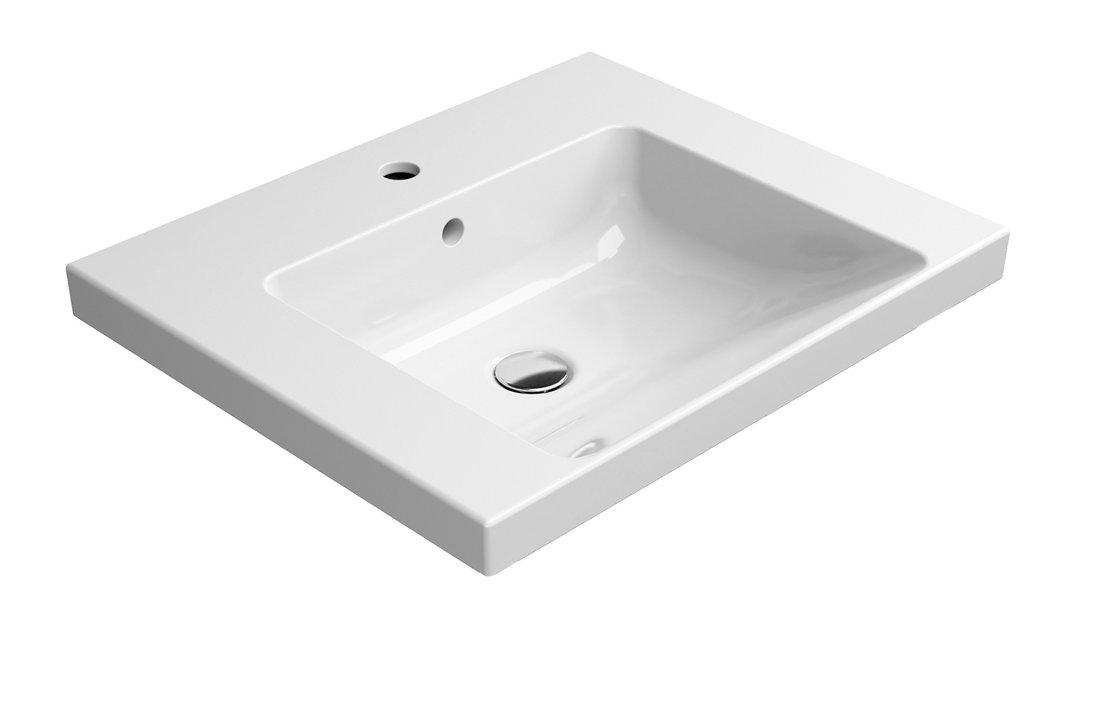 NORM keramické umyvadlo 60x18x50 cm, bílá ExtraGlaze