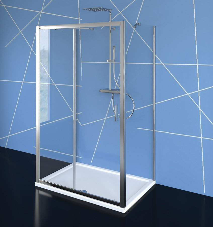 EASY LINE třístěnný sprchový kout 1000x1000mm, L/P varianta, čiré sklo