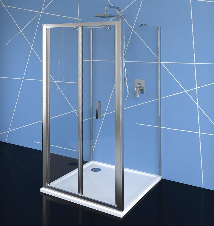 EASY LINE třístěnný sprchový kout 900x800mm, skládací dveře, L/P varianta, čiré sklo