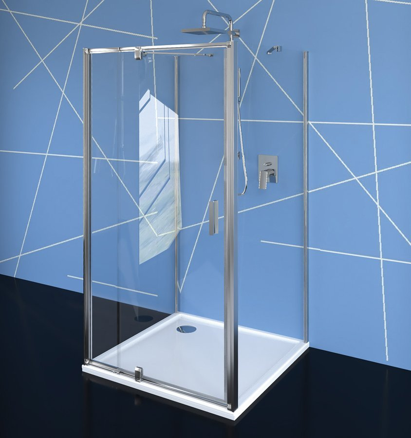 EASY LINE třístěnný sprchový kout 800-900x1000mm, pivot dveře, L/P varianta, čiré sklo