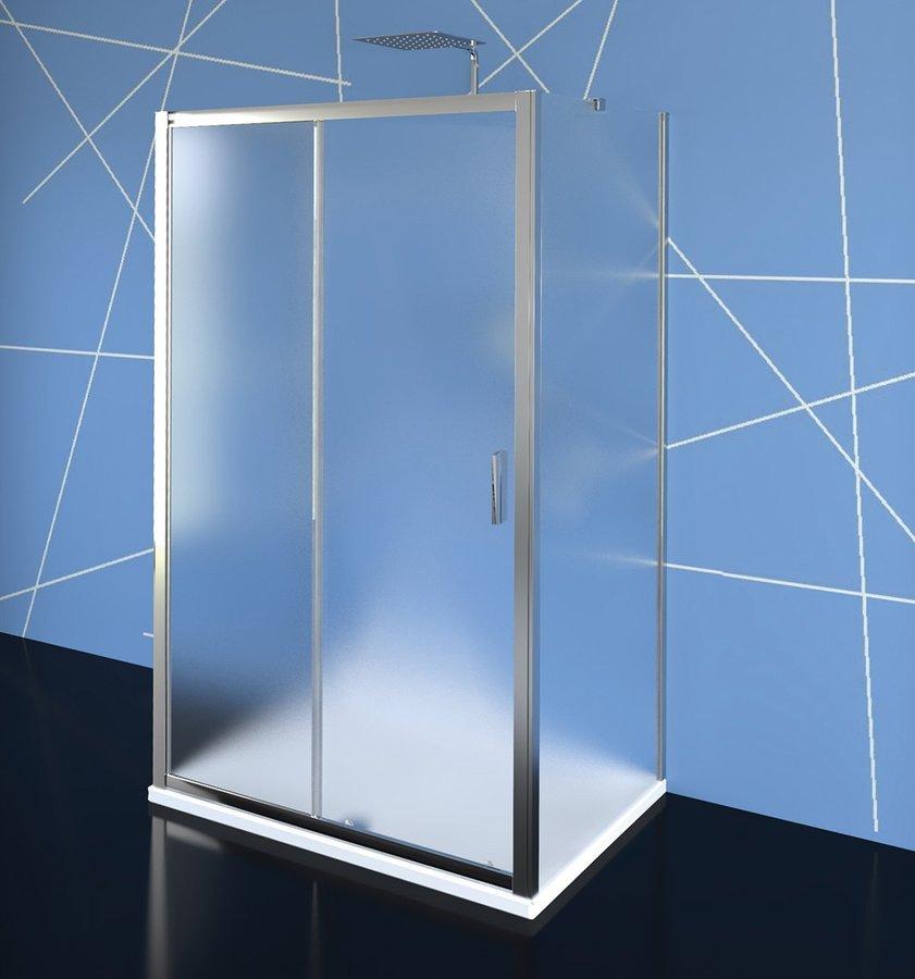 EASY LINE třístěnný sprchový kout 1100x800mm, L/P varianta, Brick sklo