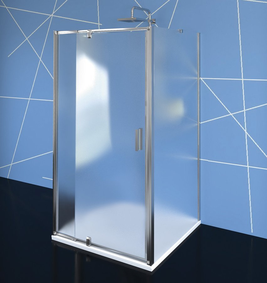 EASY LINE třístěnný sprchový kout 900-1000x900mm, pivot dveře, L/P varianta, Brick sklo