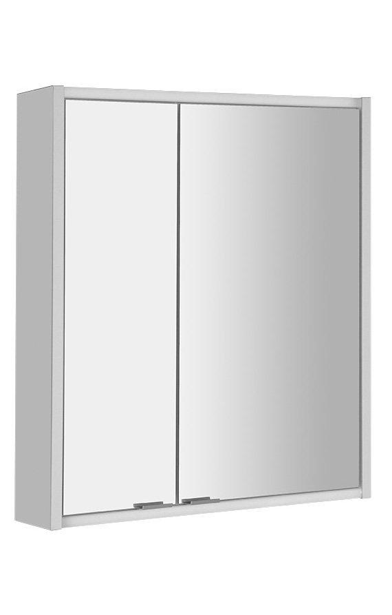BATU galerka 60x71x15 cm, 2x LED osvětlení, bílá