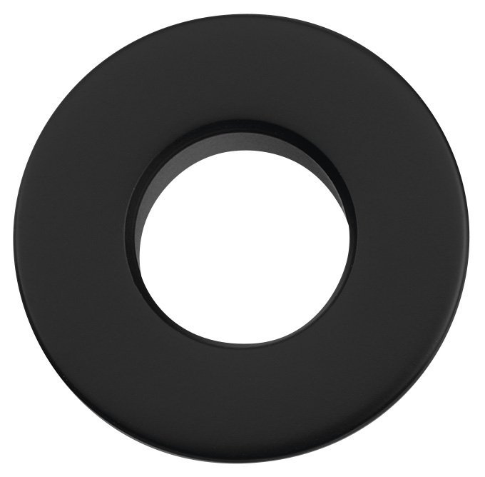 Kovová krytka přepadu umyvadla, 30mm, černá