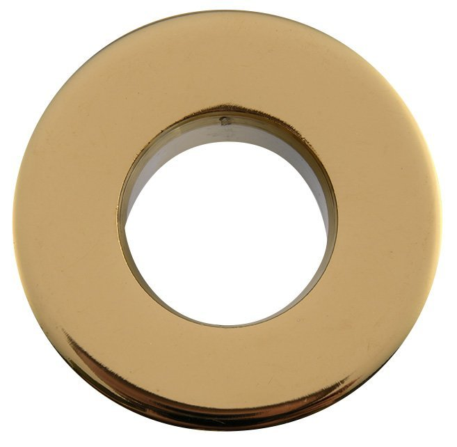 Kovová krytka přepadu umyvadla, 30mm, zlatá