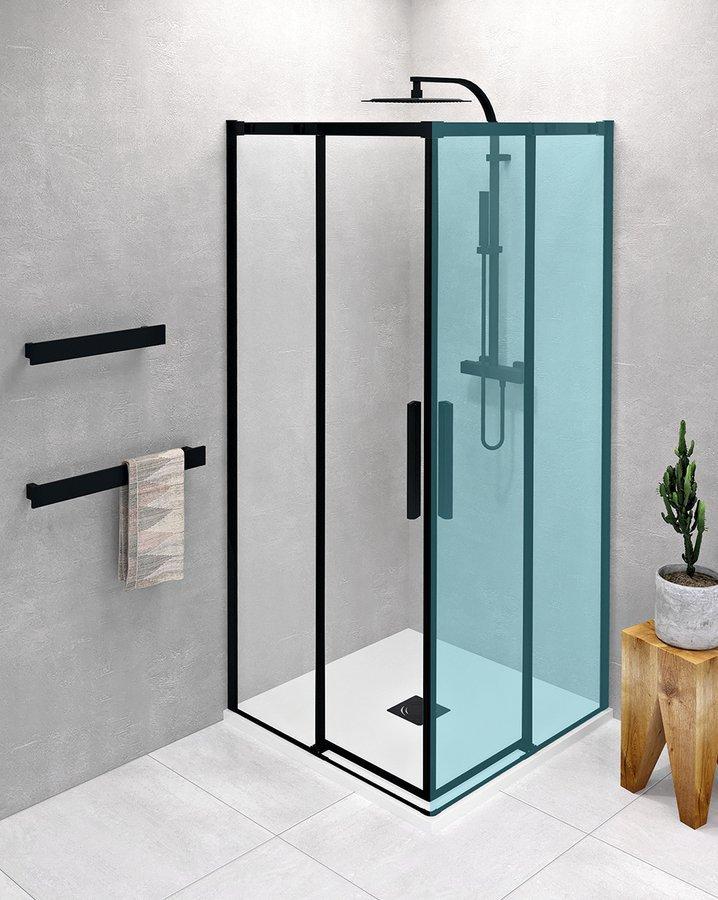 ALTIS LINE BLACK posuvné dveře 780-800mm, výška 2000mm, sklo 8mm