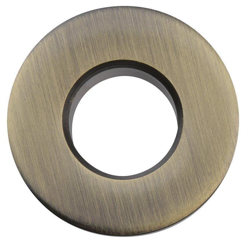 Kovová krytka přepadu umyvadla, 30mm, bronz