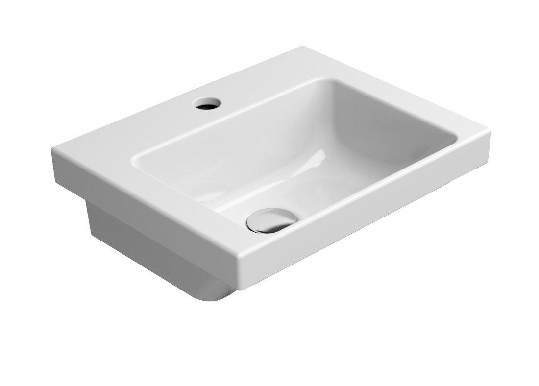 NORM keramické umyvadlo 42x17x34 cm, bílá ExtraGlaze