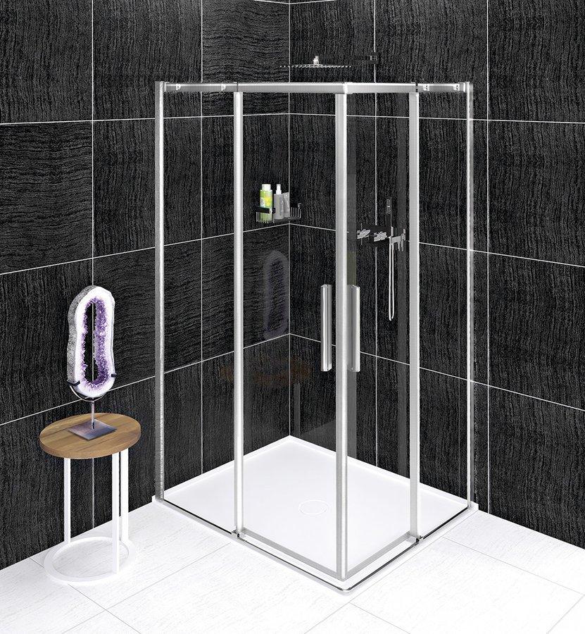 ALTIS LINE obdélníkový sprchový kout 900x800 mm, L/P varianta, rohový vstup, čiré sklo