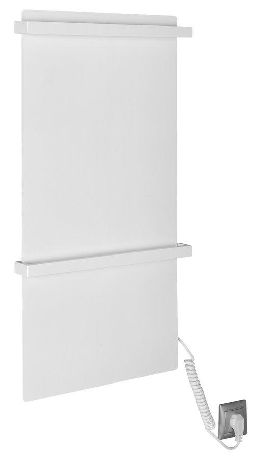 ELMIS elektrický sušák ručníků 400x800mm, 120W, hliník, bílá mat