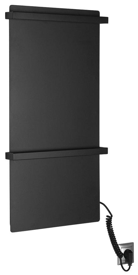 ELMIS elektrický sušák ručníků 400x800mm, 120W, hliník, černá mat