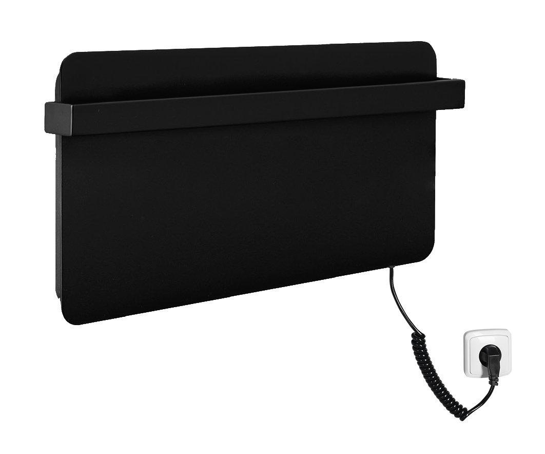 ELMIS elektrický sušák ručníků 600x300mm, 90W, hliník, černá mat