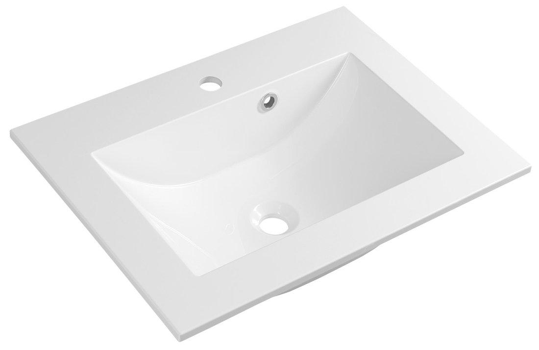 YUKON umyvadlo 60x45cm, litý mramor, bílá