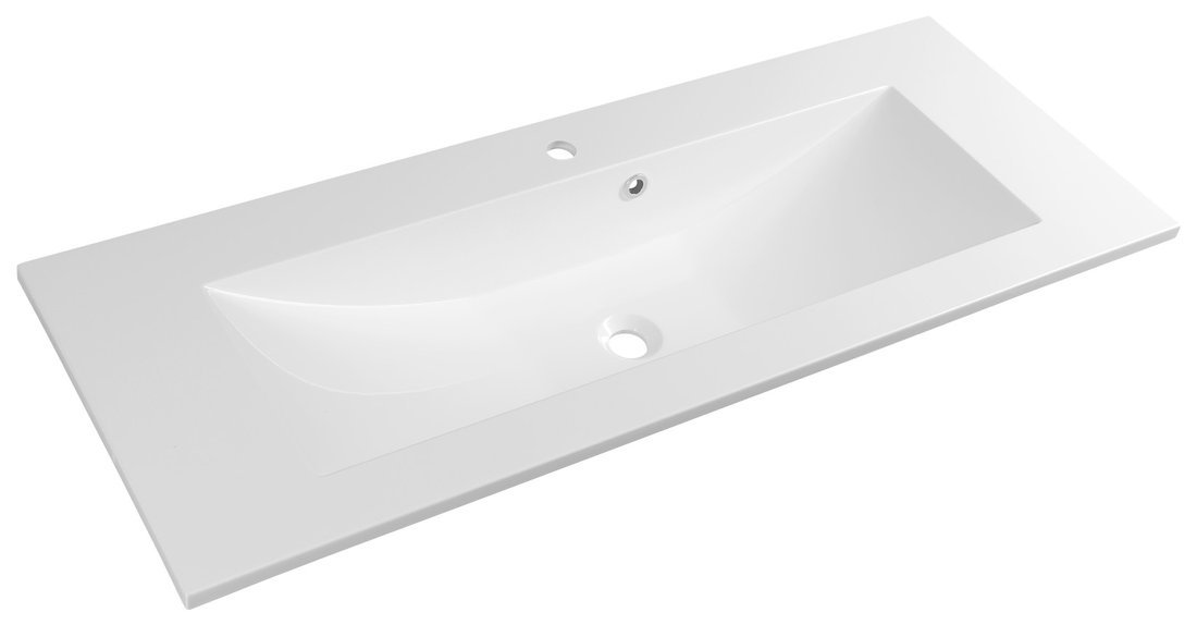 YUKON umyvadlo 120x45cm, litý mramor, bílá