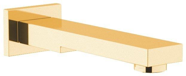 Nástěnná výtoková hubice, hranatá, 180mm, zlato