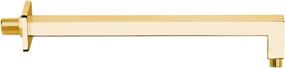 Sprchové ramínko hranaté, 400mm, zlato