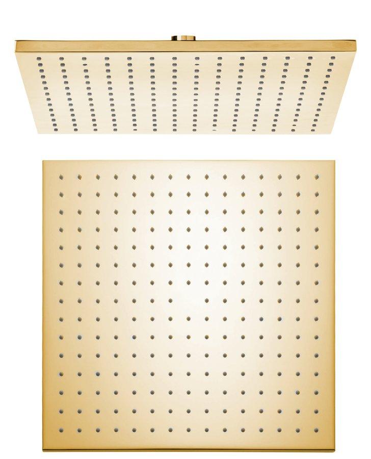 Hlavová sprcha, 300x300mm, zlato