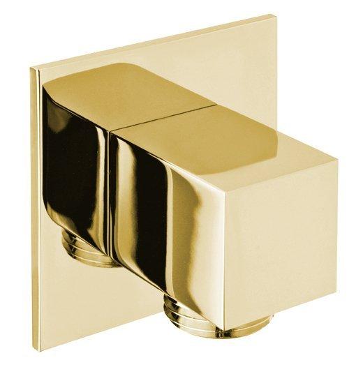 Vývod sprchy, hranatý, tenká krytka, zlato