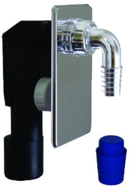 Podomítkový pračkový sifon 40/50mm, chrom