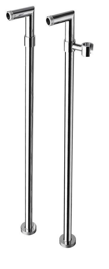 Připojení pro instalaci vanové baterie do podlahy (pár), chrom