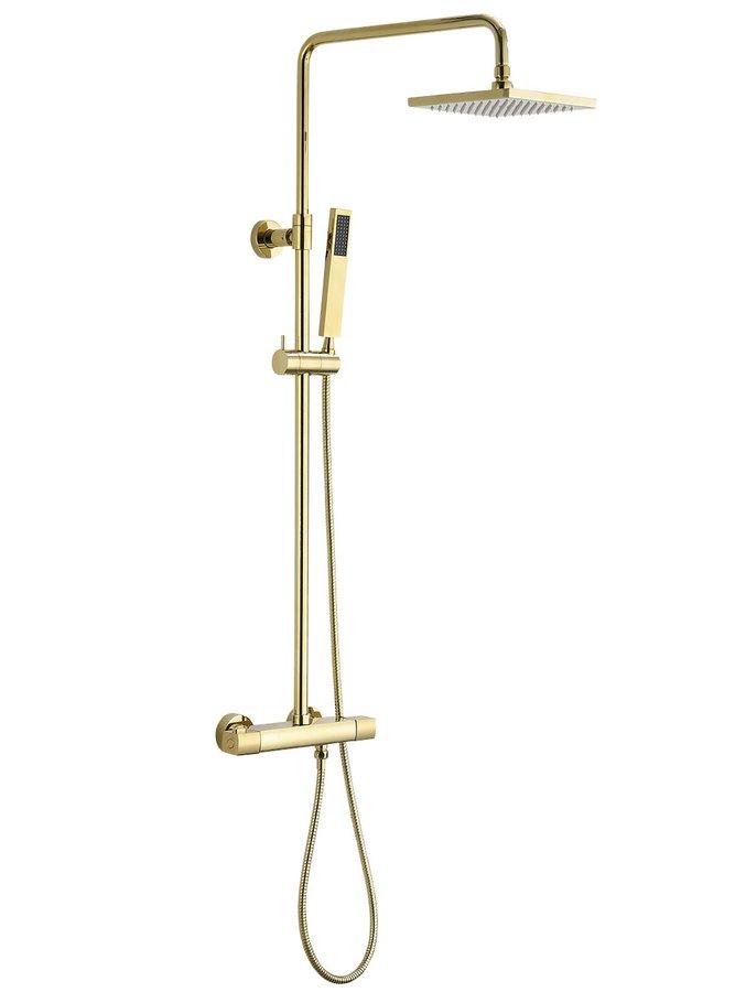 DAKAR teleskopický sprchový sloup s termostatickou baterií, zlato