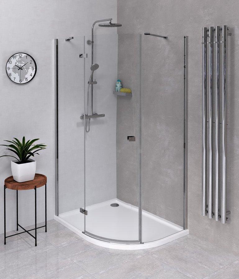 FORTIS LINE čtvrtkruhová sprchová zástěna 1000x900x2000, levá