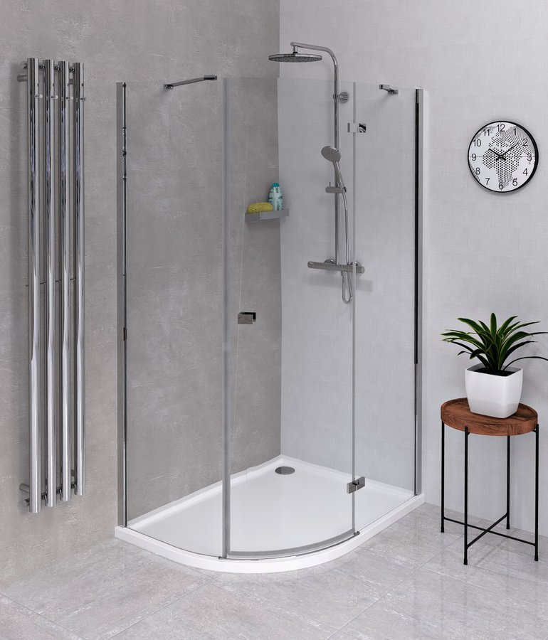 FORTIS LINE čtvrtkruhová sprchová zástěna 1000x900x2000, pravá