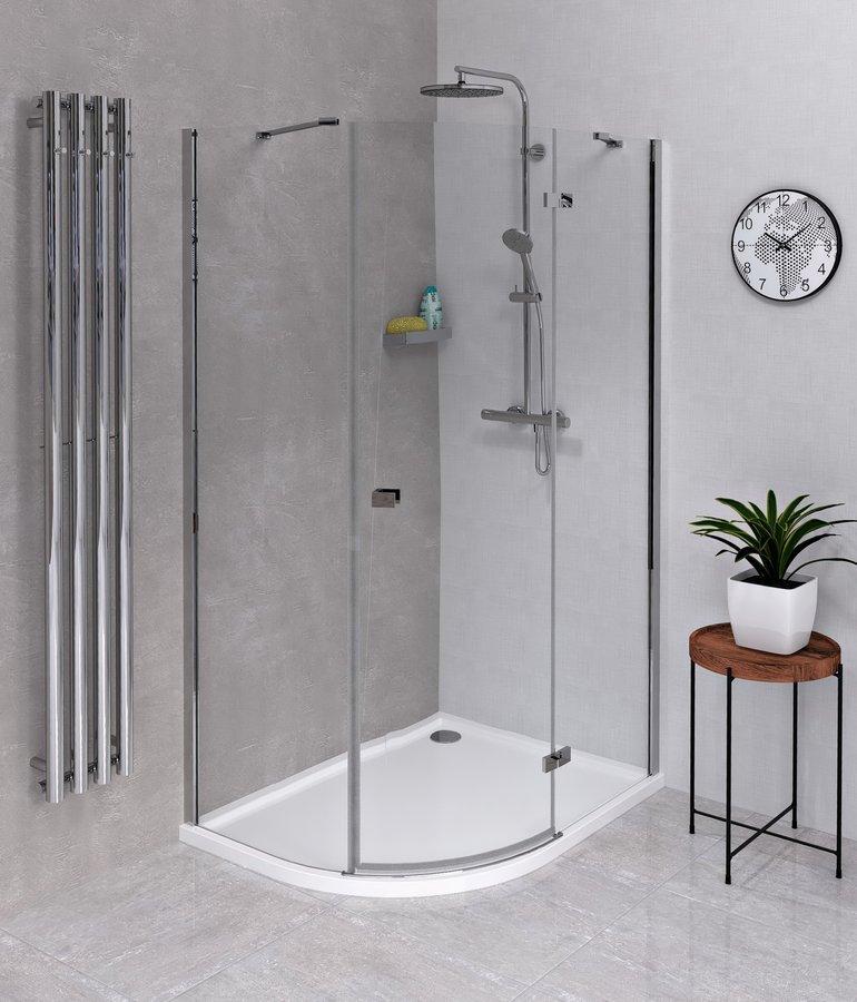 FORTIS LINE čtvrtkruhová sprchová zástěna 1200x900x2000, pravá