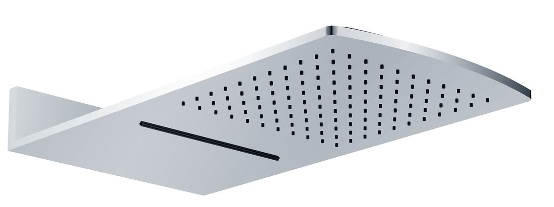 Hlavová sprcha s kaskádou 600x320mm, chrom