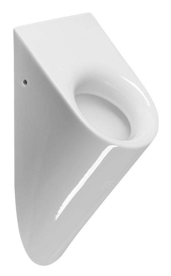 PURA urinál se zakrytým přívodem vody, 36x61x25 cm, bílá ExtraGlaze