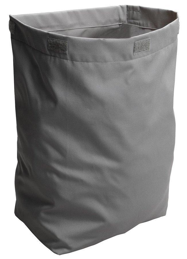 Látkový koš na prádlo 310x570x230mm, suchý zip, šedá