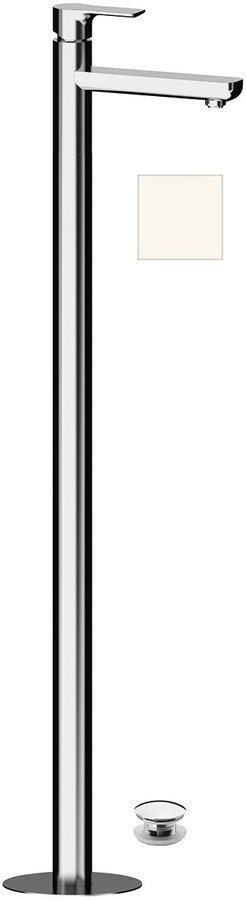 PAX umyvadlová baterie s připojením do podlahy, bílá mat