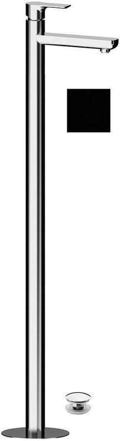 PAX umyvadlová baterie s připojením do podlahy, černá mat