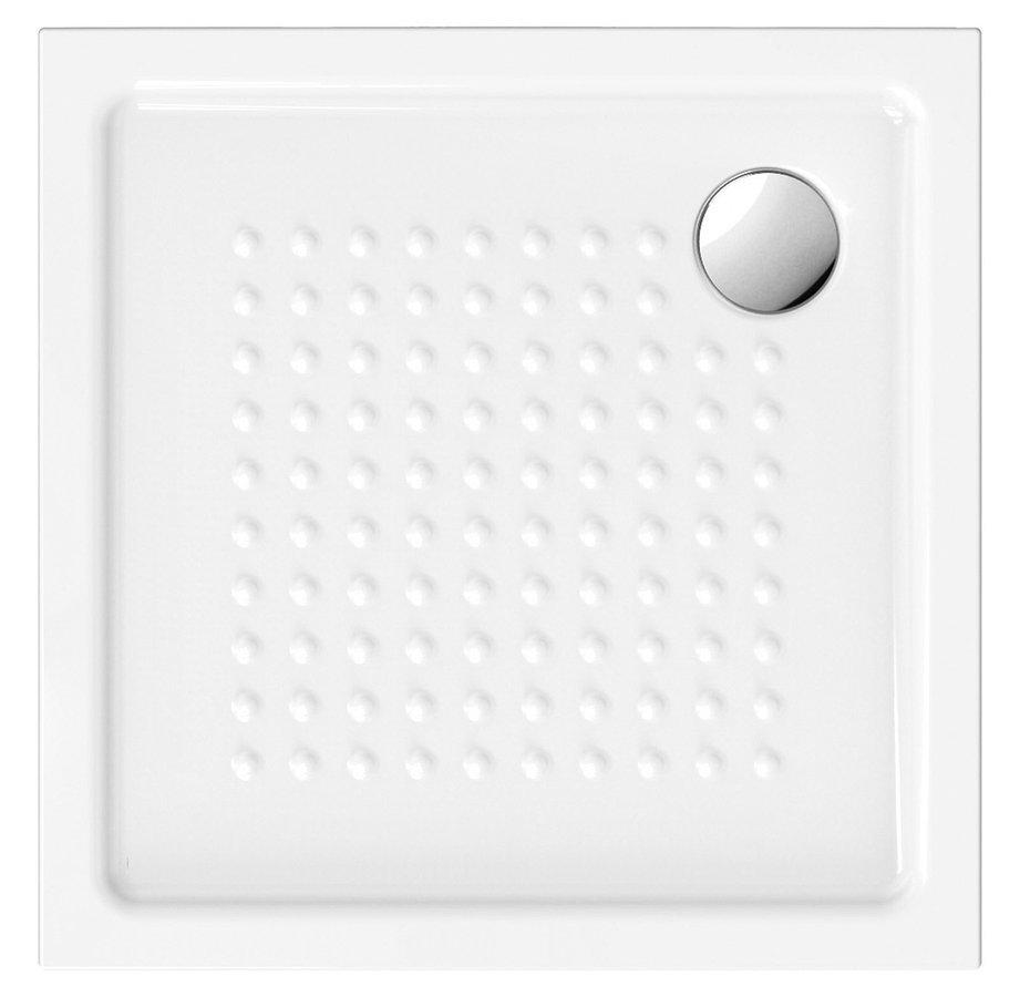 Keramická sprchová vanička,čtverec 80x80x4,5 cm