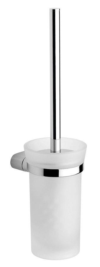 MIDA WC štětka závěsná, chrom/mléčné sklo