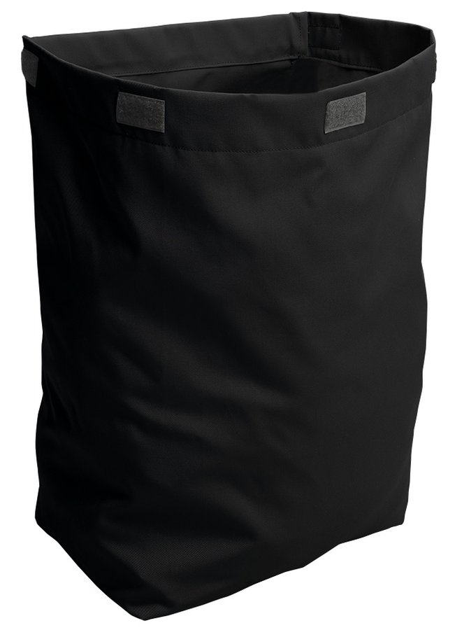 Látkový koš na prádlo 310x570x230mm, suchý zip, černá