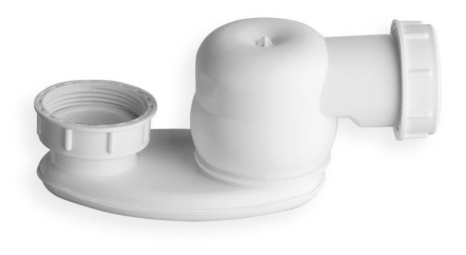 """Sifon s převlečnou matkou 1 1/2"""", výška 42mm, bílá"""
