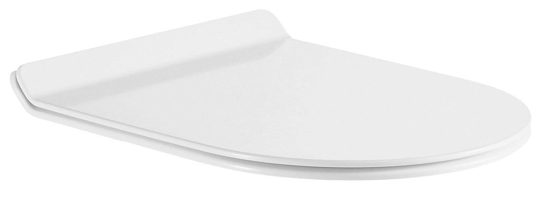 GALIA WC sedátko SLIM Soft Close, Easy Take, duroplast, bílá/chrom (pro PC081)
